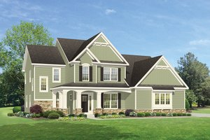 House Design - Traditional Exterior - Front Elevation Plan #1010-134