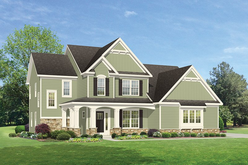 Architectural House Design - Traditional Exterior - Front Elevation Plan #1010-134