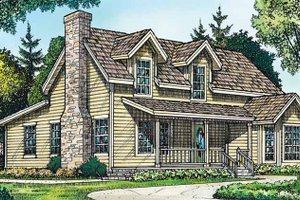 Country Exterior - Front Elevation Plan #140-187