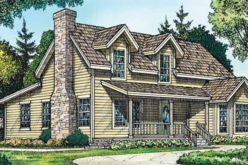 Dream House Plan - Country Exterior - Front Elevation Plan #140-187