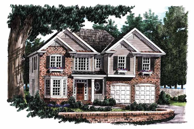House Plan Design - Colonial Exterior - Front Elevation Plan #927-843