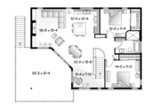 Contemporary Style House Plan - 3 Beds 2 Baths 2729 Sq/Ft Plan #23-2599 Floor Plan - Upper Floor Plan