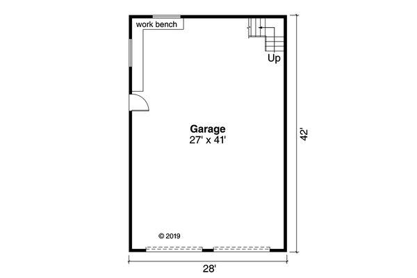 Country Floor Plan - Main Floor Plan #124-1145