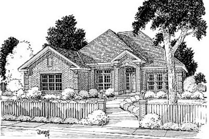 Traditional Exterior - Front Elevation Plan #20-113 - Houseplans.com