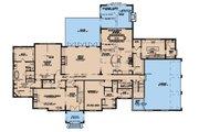 European Style House Plan - 5 Beds 5.5 Baths 5813 Sq/Ft Plan #923-185 Floor Plan - Main Floor