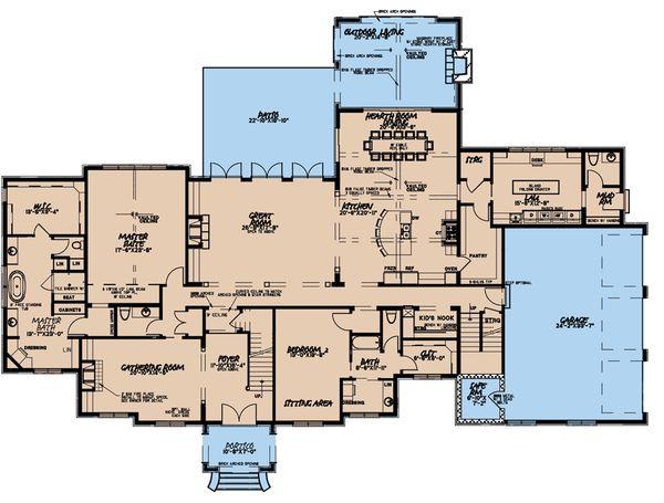 House Plan Design - European Floor Plan - Main Floor Plan #923-185