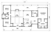 Ranch Style House Plan - 3 Beds 2 Baths 2136 Sq/Ft Plan #140-153 Floor Plan - Main Floor