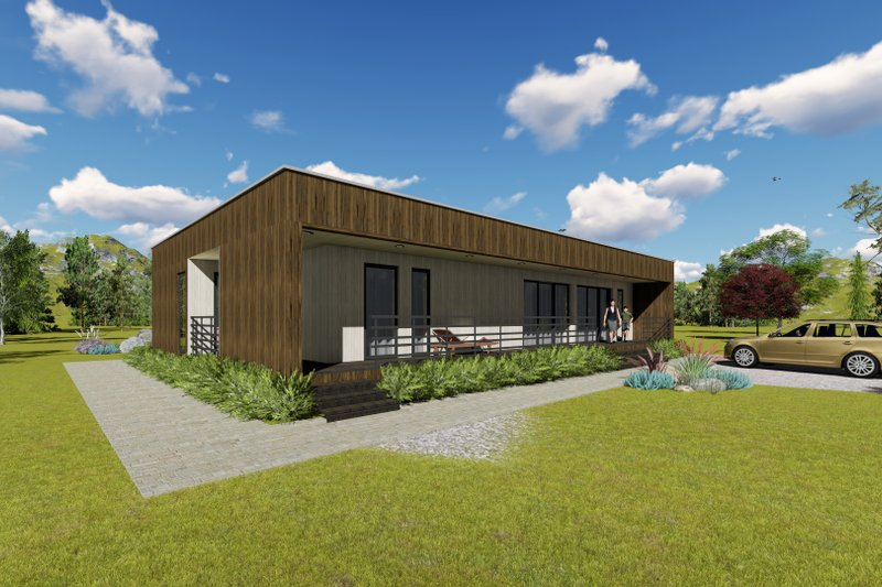 Modern Style House Plan - 2 Beds 2 Baths 1687 Sq/Ft Plan #549-8 Exterior - Front Elevation