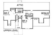 Traditional Style House Plan - 3 Beds 2 Baths 1839 Sq/Ft Plan #30-208 Floor Plan - Upper Floor Plan