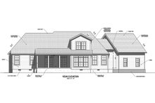 House Plan Design - Traditional Exterior - Rear Elevation Plan #1071-20