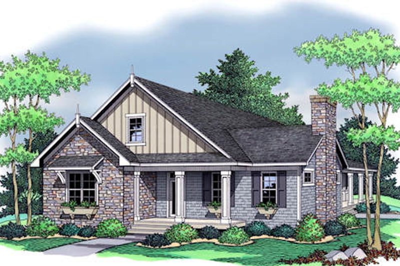 Country Exterior - Front Elevation Plan #51-350 - Houseplans.com