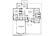 Craftsman Floor Plan - Main Floor Plan Plan #70-1481