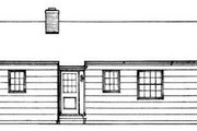 Ranch Style House Plan - 3 Beds 2 Baths 1080 Sq/Ft Plan #72-101 Exterior - Rear Elevation