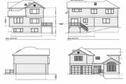 Traditional Style House Plan - 3 Beds 2.5 Baths 1831 Sq/Ft Plan #100-416 Exterior - Rear Elevation
