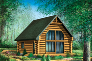 Cabin Style House Plan - 2 Beds 1 Baths 743 Sq/Ft Plan #25-4588