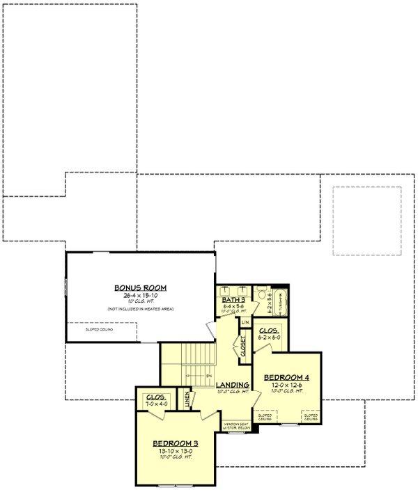 Dream House Plan - Farmhouse Floor Plan - Upper Floor Plan #430-260