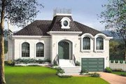European Style House Plan - 3 Beds 1 Baths 1728 Sq/Ft Plan #25-4131 Exterior - Front Elevation