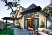 European Style House Plan - 3 Beds 3.5 Baths 4142 Sq/Ft Plan #48-625 Exterior - Rear Elevation