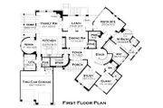 European Style House Plan - 4 Beds 4.5 Baths 4373 Sq/Ft Plan #120-177 Floor Plan - Main Floor Plan