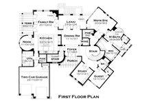 European Floor Plan - Main Floor Plan Plan #120-177