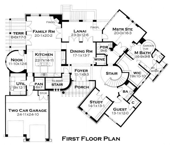 Home Plan - European Floor Plan - Main Floor Plan #120-177