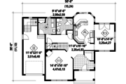 Country Style House Plan - 3 Beds 2 Baths 2249 Sq/Ft Plan #25-4709 Floor Plan - Main Floor Plan