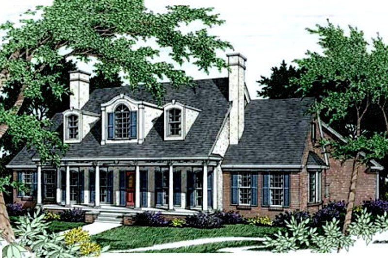 European Exterior - Front Elevation Plan #406-174