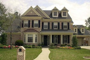 Colonial Exterior - Front Elevation Plan #61-119