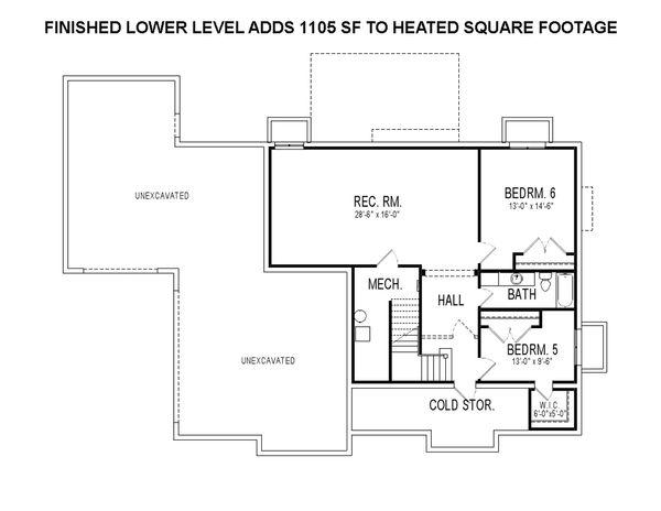 Craftsman Style House Plan - 4 Beds 3.5 Baths 2895 Sq/Ft Plan #920-4 Floor Plan - Other Floor Plan