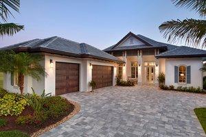 Architectural House Design - Mediterranean Exterior - Front Elevation Plan #1017-156
