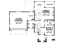 Colonial Floor Plan - Main Floor Plan Plan #20-2248