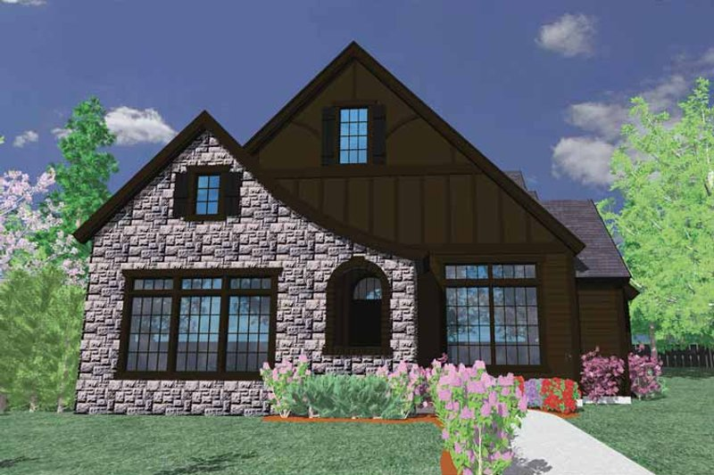 Country Exterior - Front Elevation Plan #509-306 - Houseplans.com