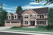 Craftsman Style House Plan - 4 Beds 4 Baths 3308 Sq/Ft Plan #48-119 Exterior - Front Elevation