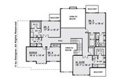 Contemporary Style House Plan - 5 Beds 5.5 Baths 6182 Sq/Ft Plan #1066-28 Floor Plan - Upper Floor Plan