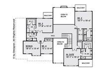 Contemporary Floor Plan - Upper Floor Plan Plan #1066-28
