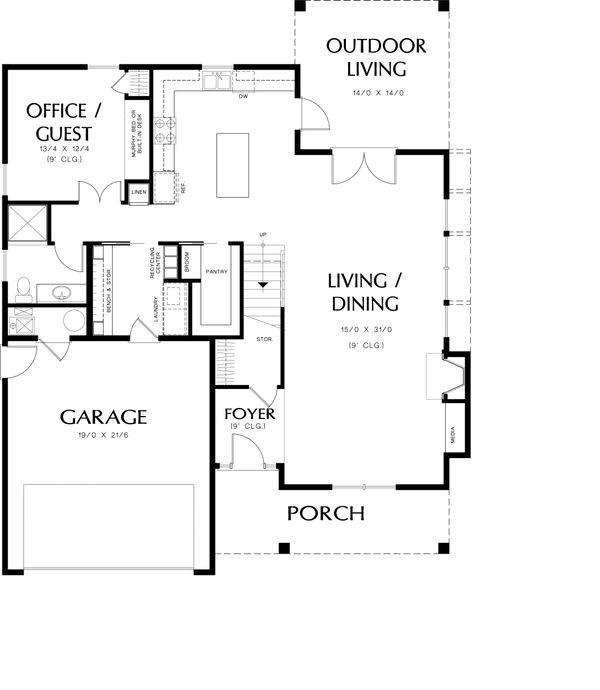 Country Floor Plan - Main Floor Plan #48-638