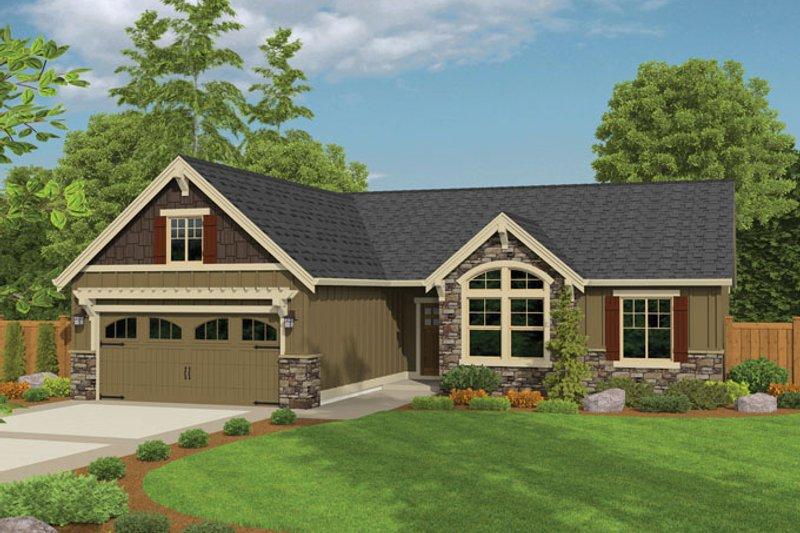 Ranch Exterior - Front Elevation Plan #943-42 - Houseplans.com