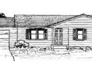 Ranch Style House Plan - 3 Beds 1 Baths 1088 Sq/Ft Plan #334-104 Exterior - Front Elevation