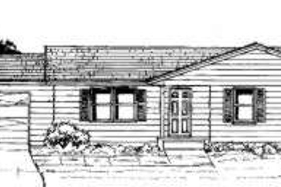 Ranch Exterior - Front Elevation Plan #334-104
