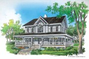 Farmhouse Style House Plan - 4 Beds 3.5 Baths 2182 Sq/Ft Plan #929-167 Exterior - Front Elevation