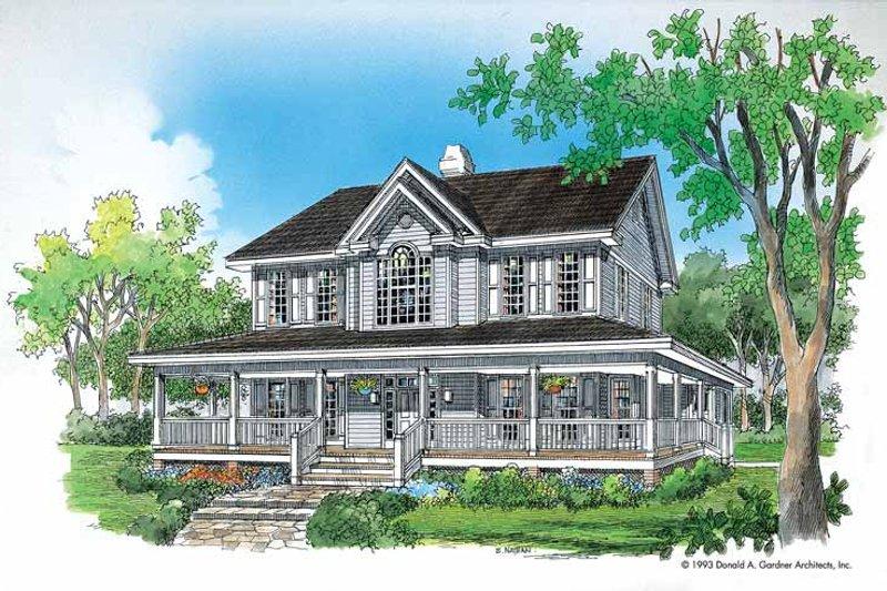 Victorian Exterior - Front Elevation Plan #929-167 - Houseplans.com