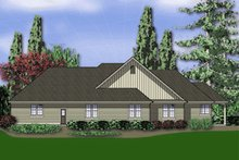 House Plan Design - Traditional Exterior - Rear Elevation Plan #48-234