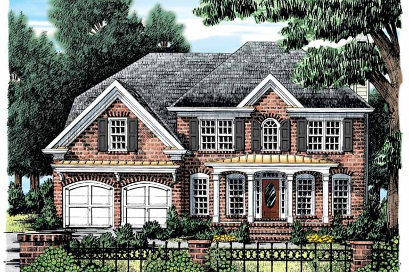 Colonial Exterior - Front Elevation Plan #927-877