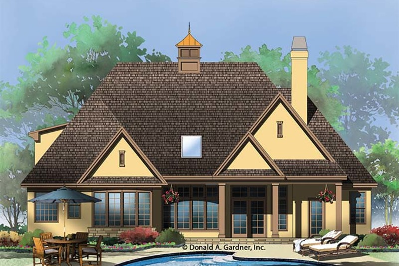 Country Exterior - Rear Elevation Plan #929-957 - Houseplans.com