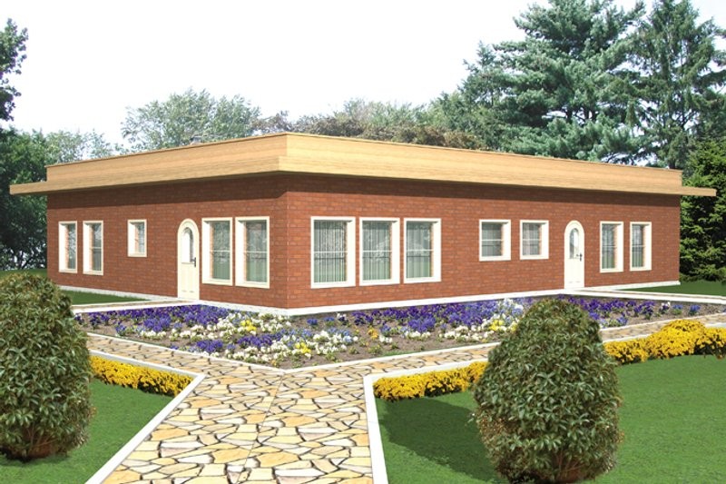 House Plan Design - Contemporary Exterior - Front Elevation Plan #117-853