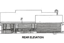 Country Exterior - Rear Elevation Plan #14-135