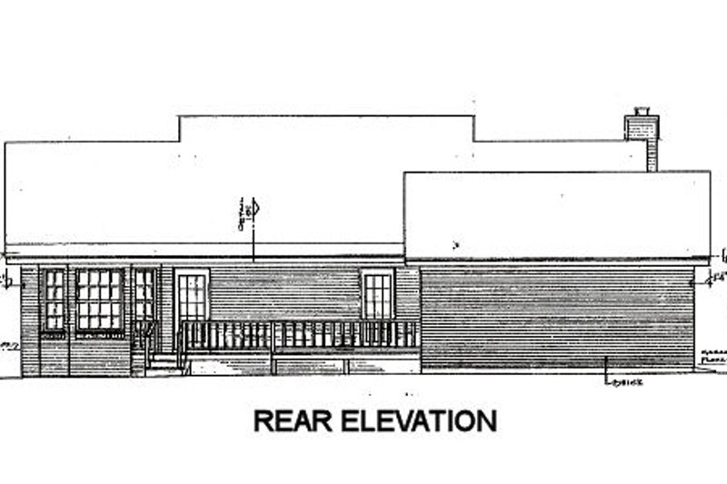 Country Exterior - Rear Elevation Plan #14-135 - Houseplans.com