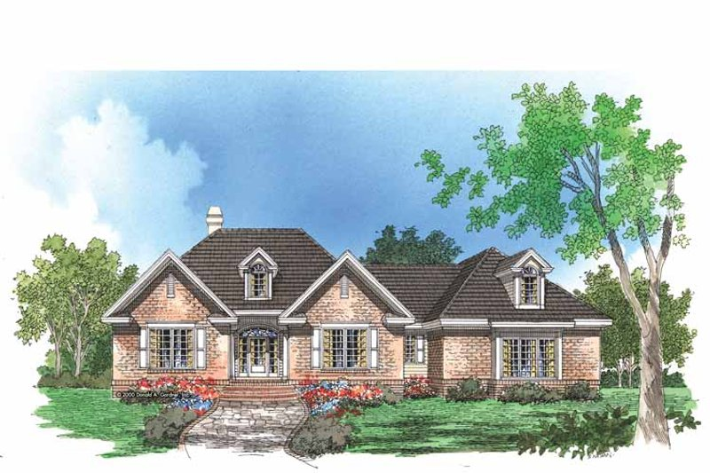 Traditional Exterior - Front Elevation Plan #929-575 - Houseplans.com