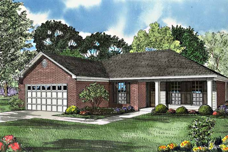 Country Exterior - Front Elevation Plan #17-3132 - Houseplans.com