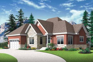 Country Exterior - Front Elevation Plan #23-2527